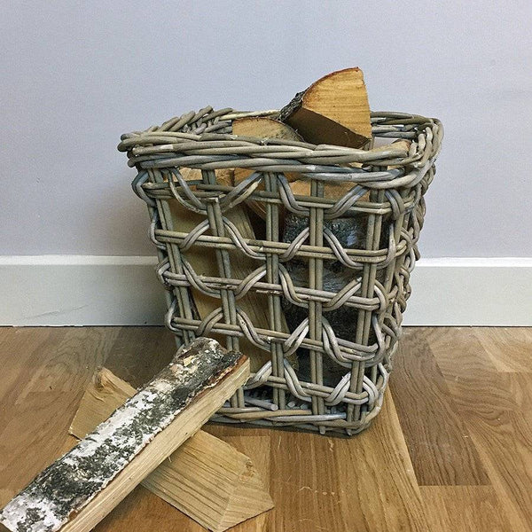 Small Weave Log Basket - Rattan at the Farthing
