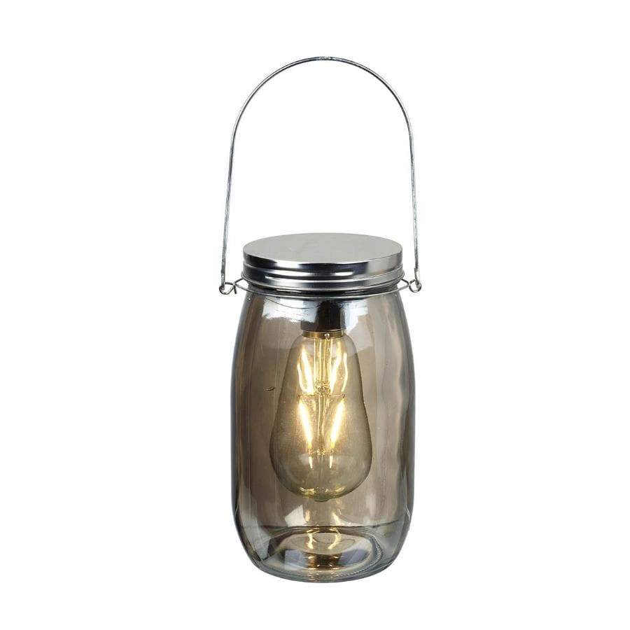 Smoked Glass Jar LED Light