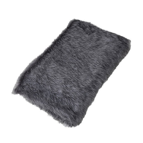 Soft Fluffy Faux Fur Throw - Black Bear - The Farthing