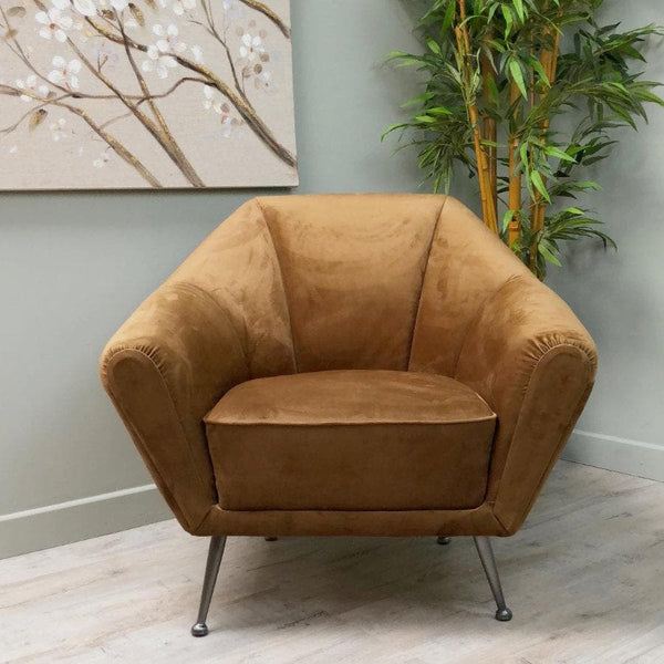 Soft Velvet Chair - Thorny Brown | Farthing 1