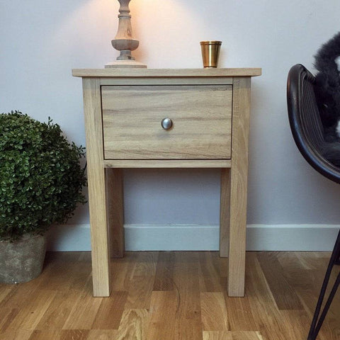 Solid Oak Hambledon Side Table - The Farthing