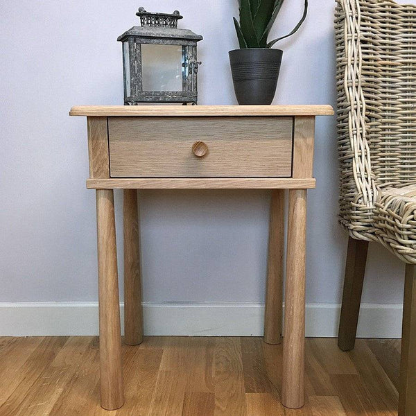 Solid Oak Oslo Side Table - The Farthing