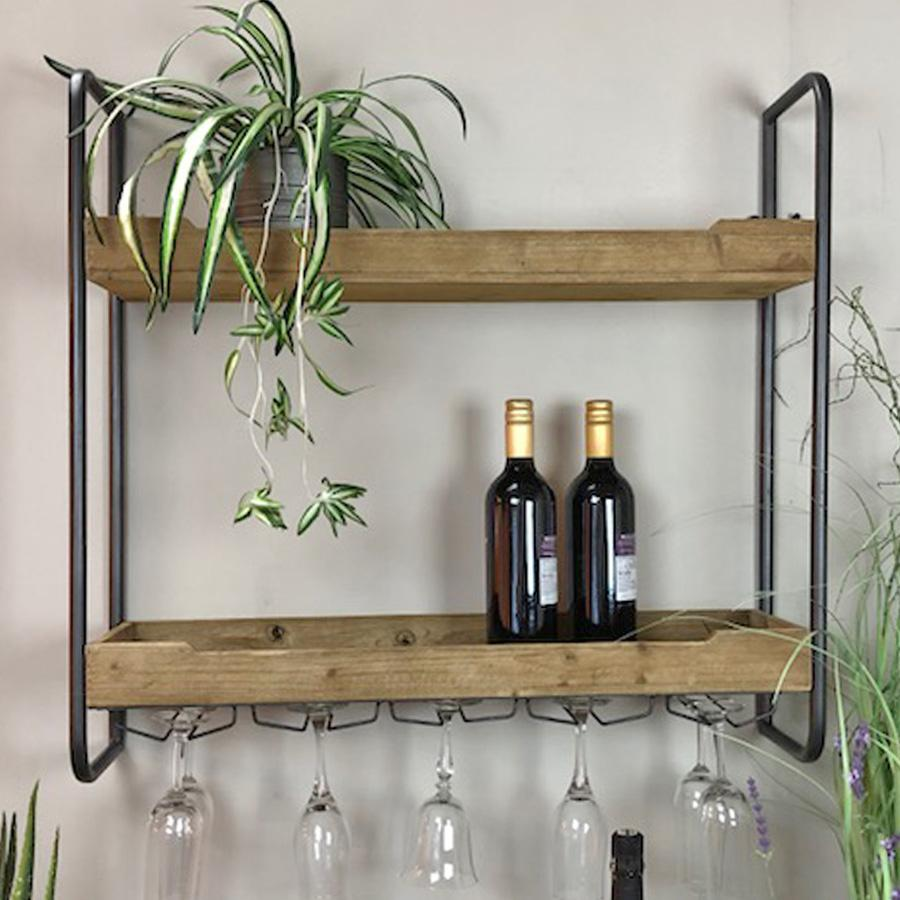 Somerby Rustic Kitchen Wall Shelf Vintage Wire Shelf Farthing The Farthing