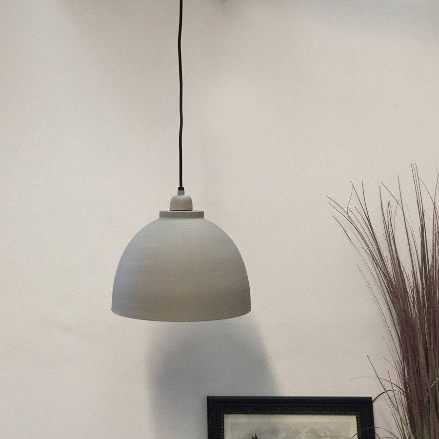 Spun Metal Pendant Lamp in Grey - The Farthing