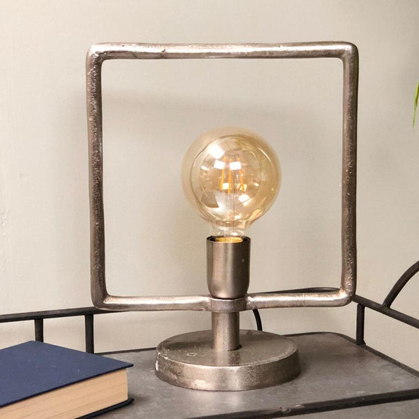 Square Industrial Table Lamp | The Farthing