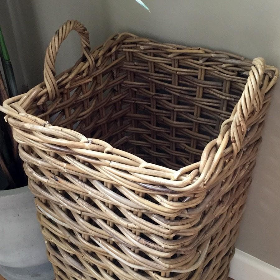 Square Rattan Umbrella Basket - Large - The Farthing