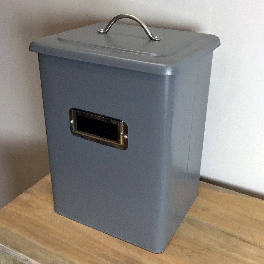 State Grey Metal Storage Bin - The Farthing