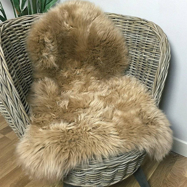 Sumptuous Caramel Sheepskin Rug - The Farthing