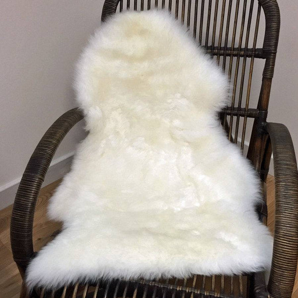 Sumptuous Ivory Sheepskin Rug - The Farthing
