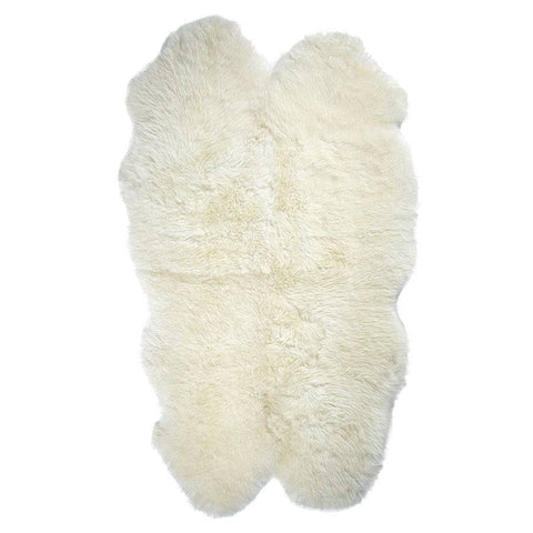 Sumptuous Sheepskin Quad Rug - Ivory at the Farthing