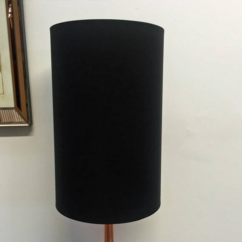 Tall Black & Copper Mia Cylinder Drum Lamp Shade - The Farthing  - 1