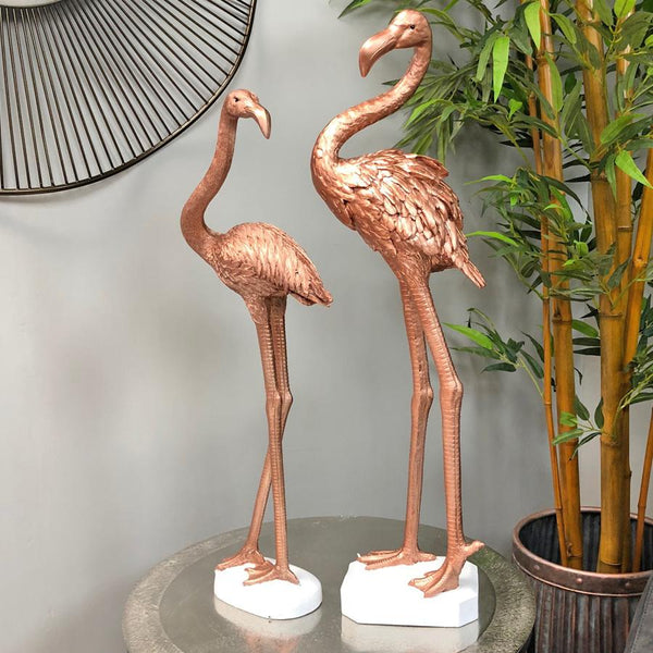 Tall Copper Flamingo's - choice of two | Farthing  4