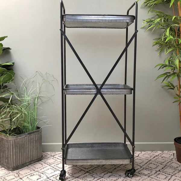 Tall Industrial Metal Shelving Unit at the Farthing 2