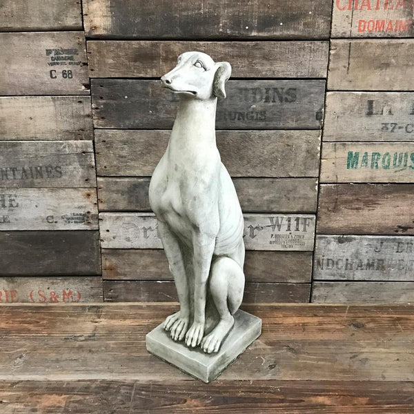 Tall Rustic Stoneware Whippet at the Farthing