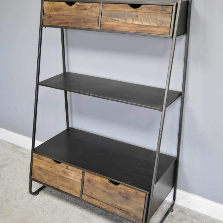 Tall Industrial Loft Shelf Unit