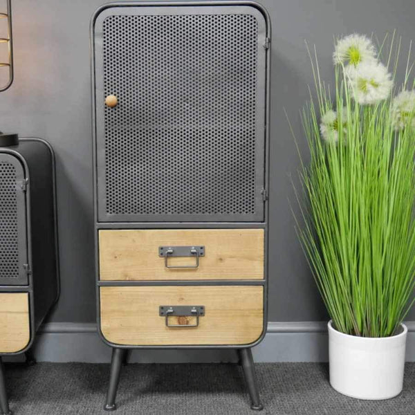 Tall Winterbourne Storage Cabinet with Mesh front