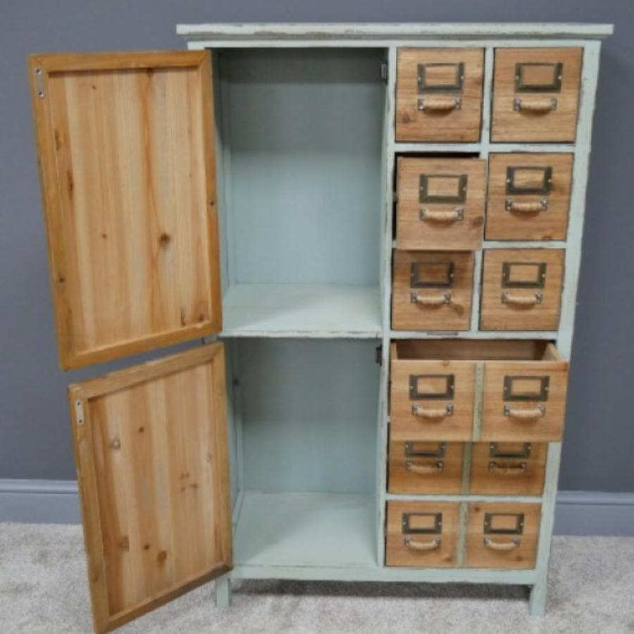 Tall Distressed Epsom Storage Unit
