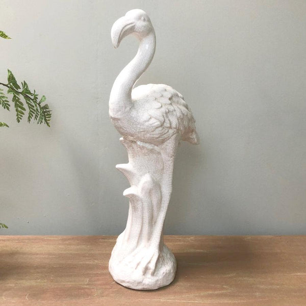 Tall Distressed Flamingo Ornament at the Farthing 1