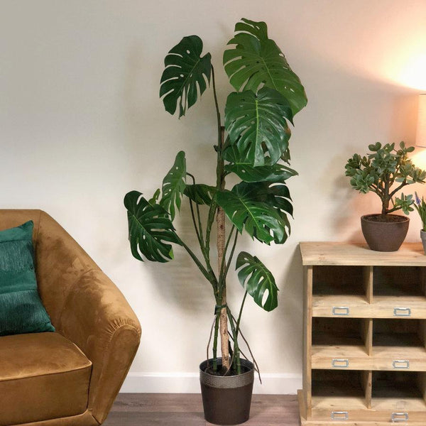 Tall Faux Monstera Tree at the Farthing