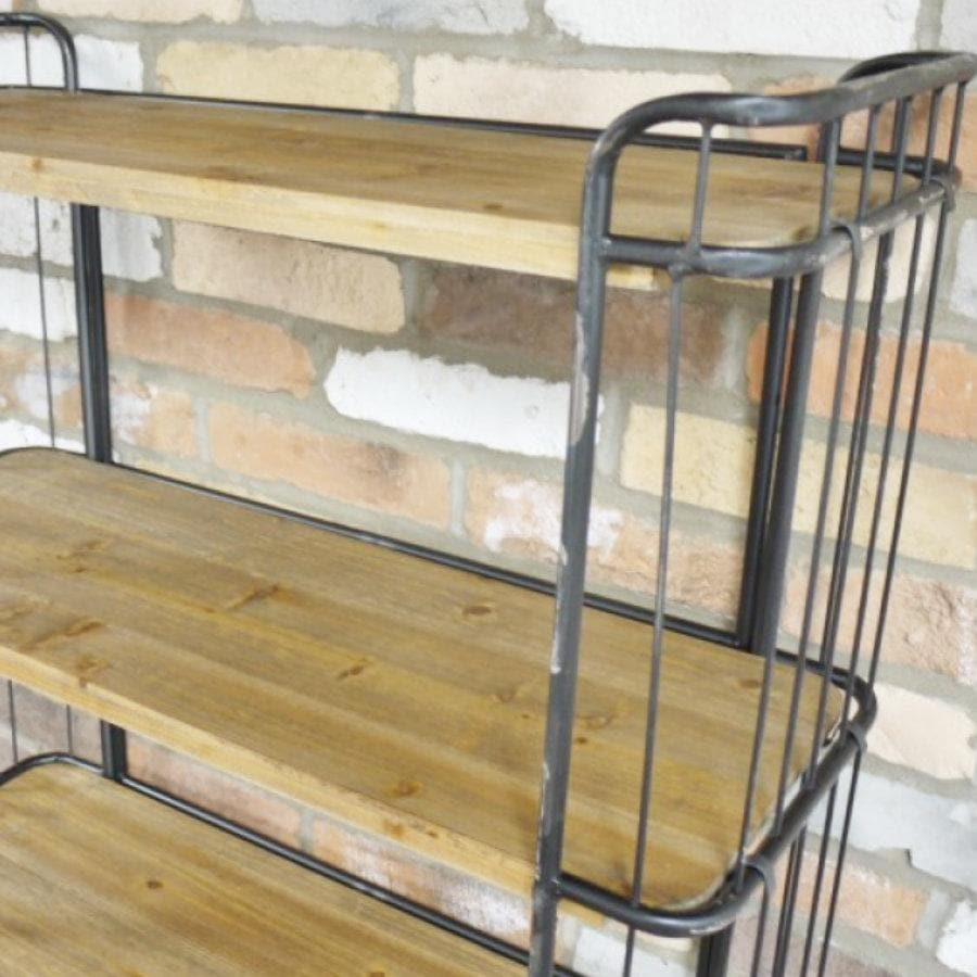 Tall Industrial Shelf Trolley with Drawers at the Farthing