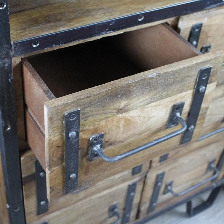 Tall Rustic Beaminster Cabinet at the Farthing