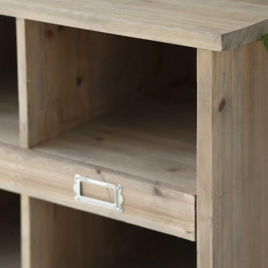 Tall Rustic Spruce Storage Box Unit at the Farthing