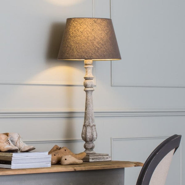 Tall Rustic Tulip Candlestick Table Lamp & Shade | The Farthing
