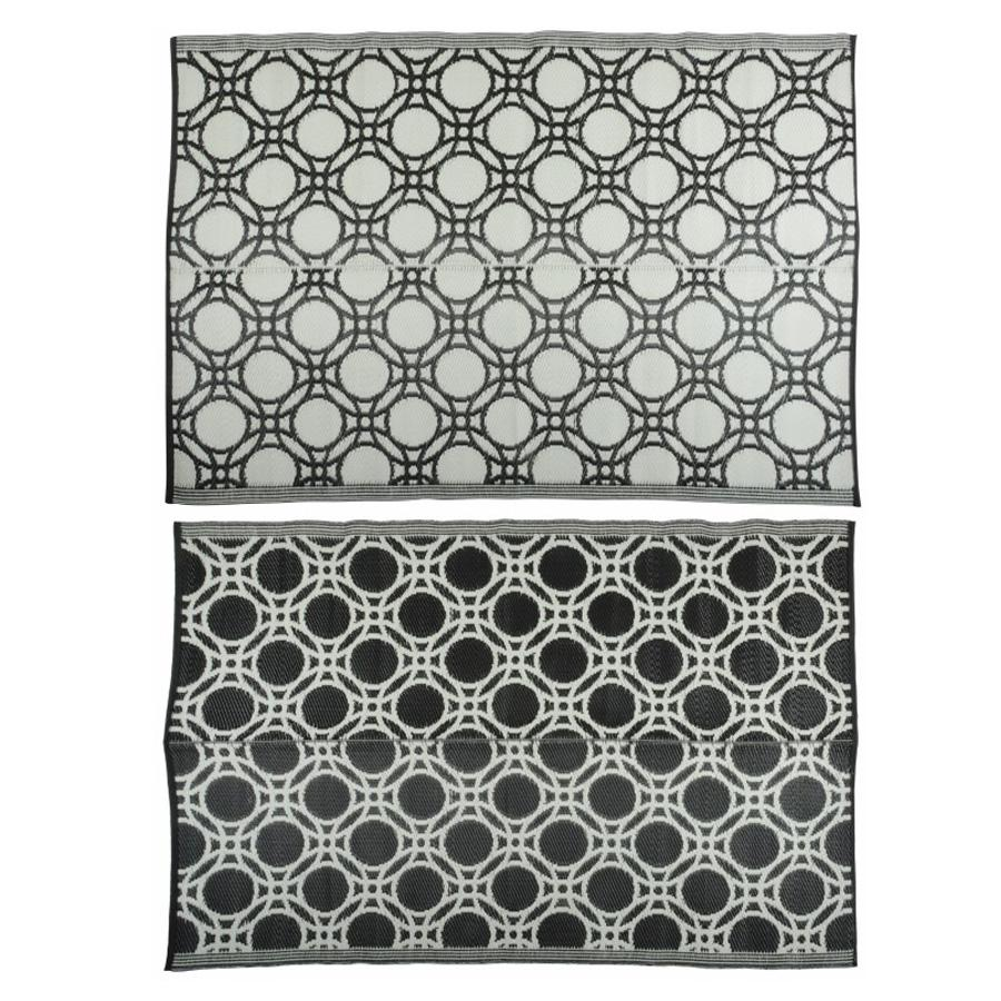 Tangier Black & White Outdoor Rug at the Farthing