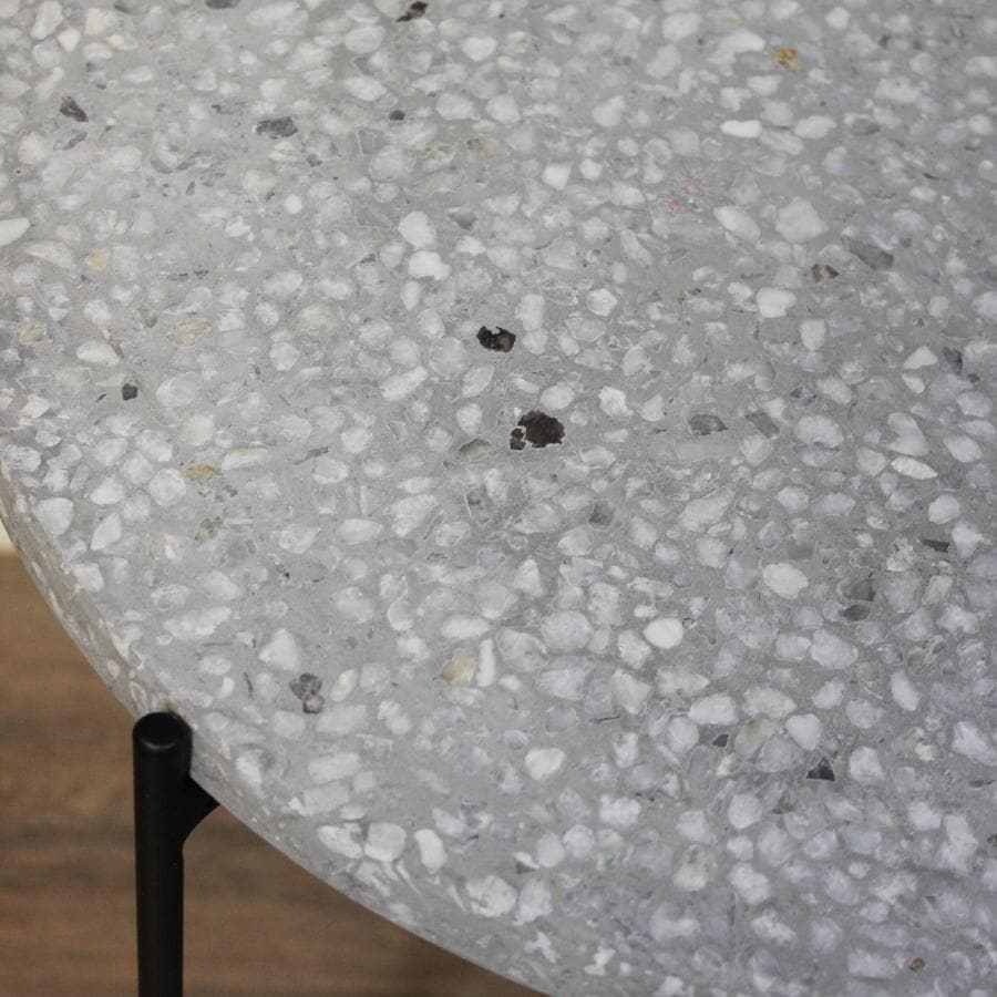Terrazzo Side Table - Grey at the Farthing 1
