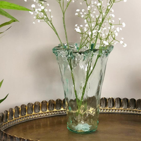 The Farthing & Textured Recycled Glass Vase