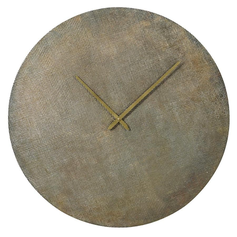 Textured Metal Wall Clock at the Farthing