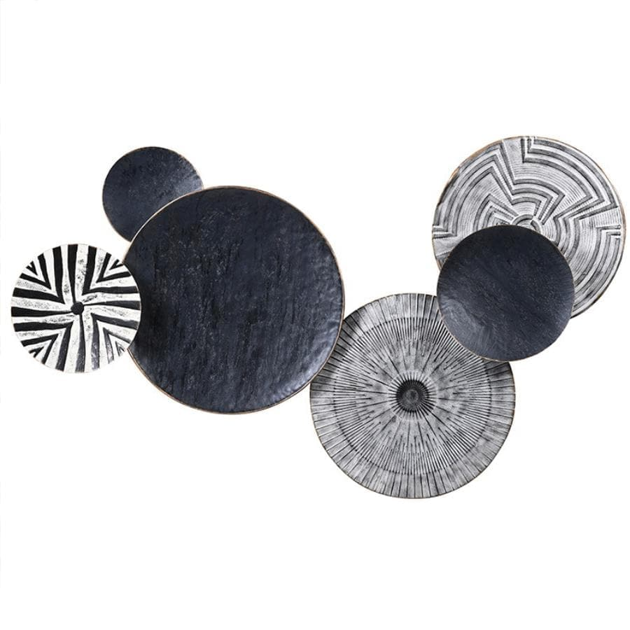 Textured Tribal Circles Wall Art at the Farthing
