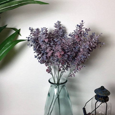 Three Faux Lilac Eucalyptus Sprays - The Farthing
