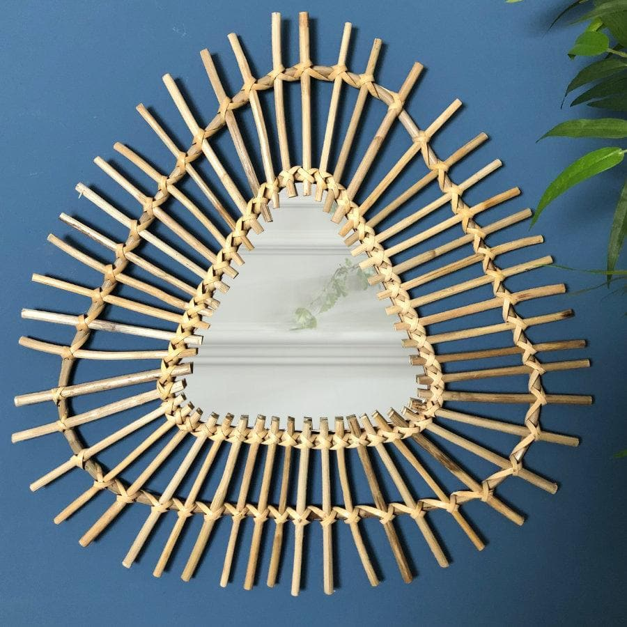 Triangle Rattan Mirror at the Farthing