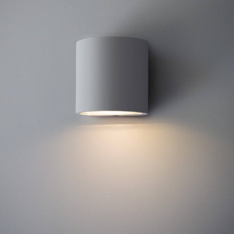 Paintable Trokia Single Warm LED Wall Light - Downlighter - The Farthing