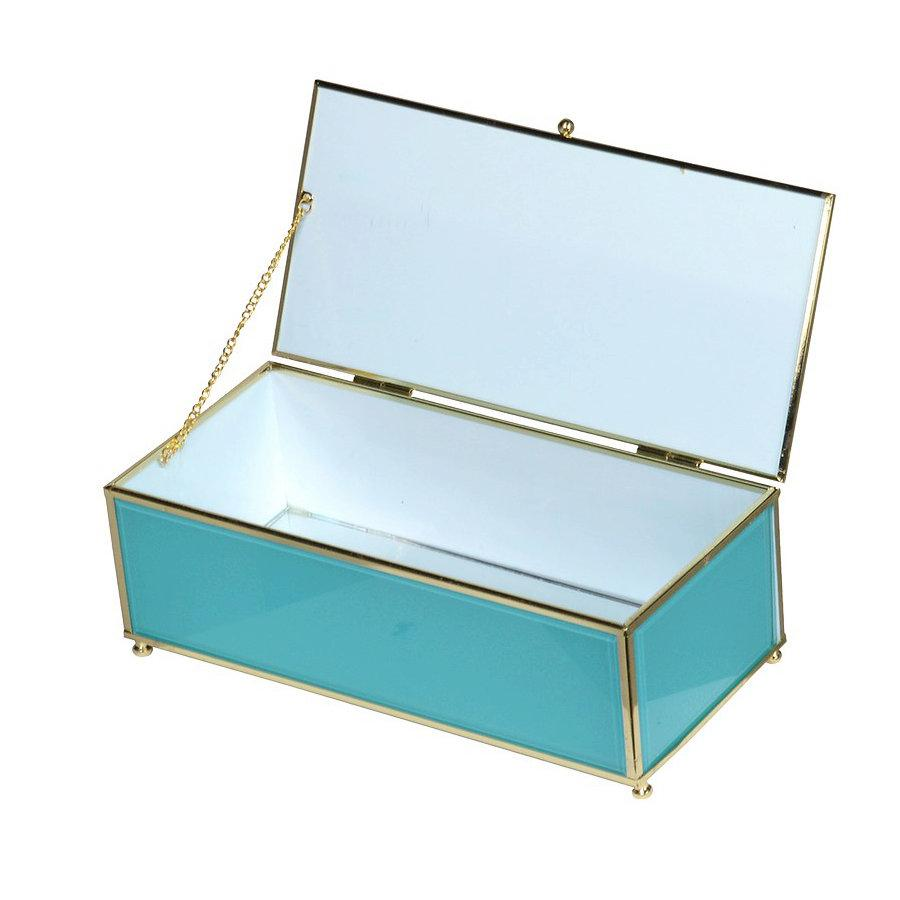 Turquoise & Gold Jewellery Box at the Farthing
