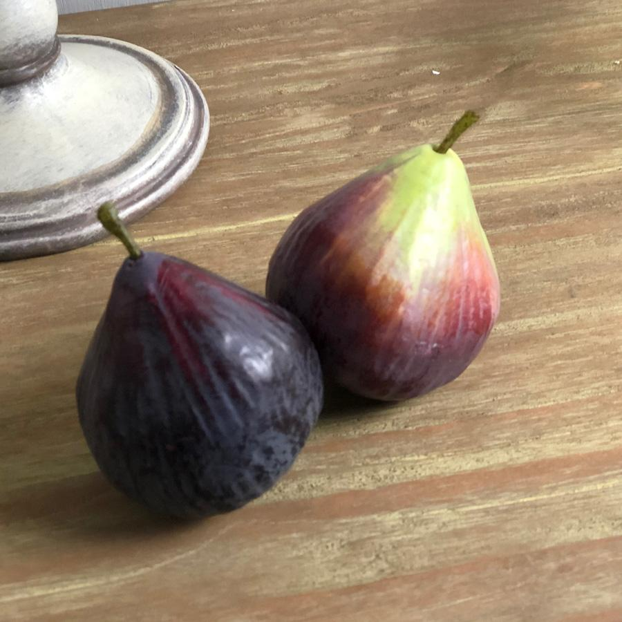 Two Decorative Faux Figs at the Farthing