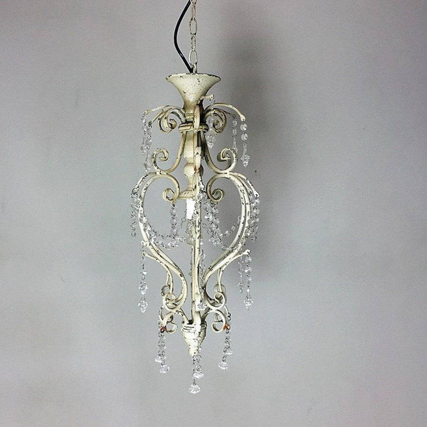 Vintage Chandelier - Rustic Cream - The Farthing