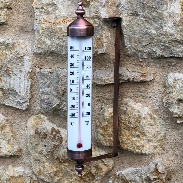 Vintage Copper Tube Thermometer | Farthing