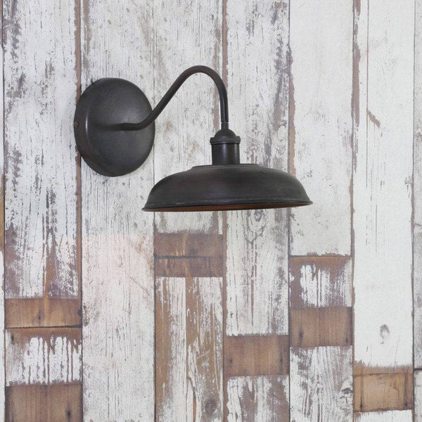 Vintage Distressed Swan Neck Wall Lamp - The Farthing