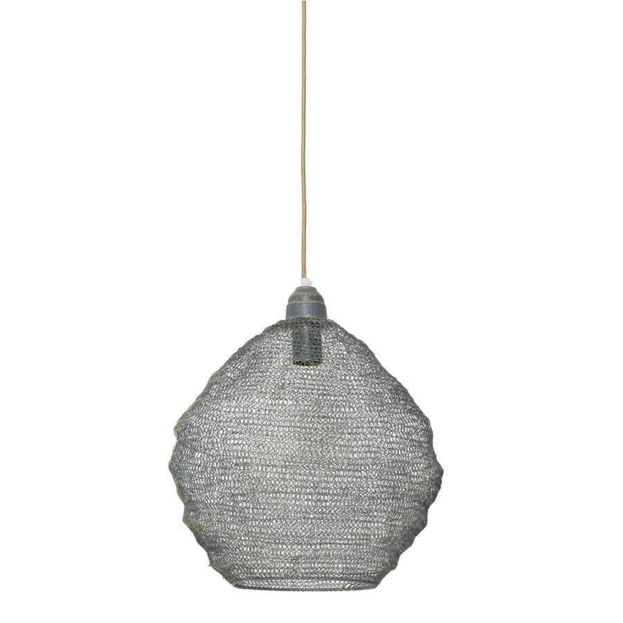 Vintage Domed Wire Pendant Light at the Farthing