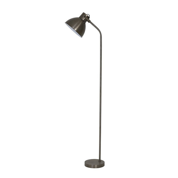 Rustic Silver Floor Lamp - The Farthing