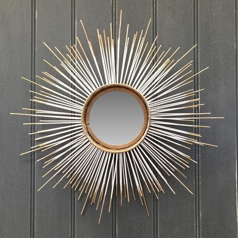 Vintage Starburst Round Wall Mirror - The Farthing