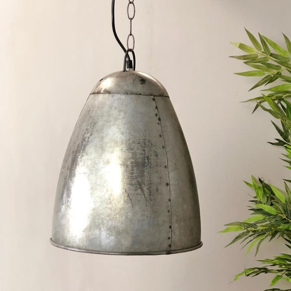 Vintage Style Factory Rivet Pendant Light - The Farthing 1
