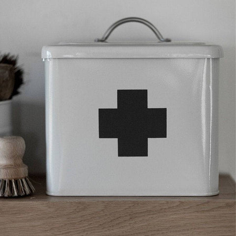 Vintage First Aid Storage Box - Chalk - The Farthing  - 1