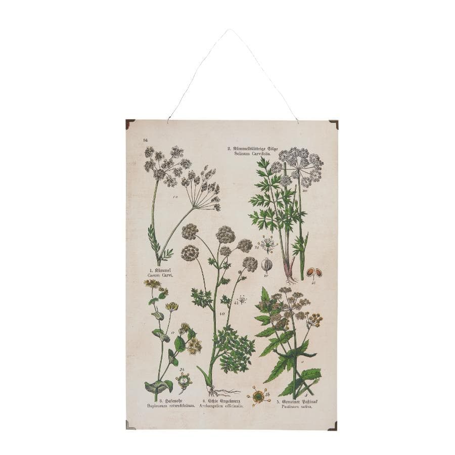 Vintage Botanical Flowers Wall Hanging - Portrait | The Farthing