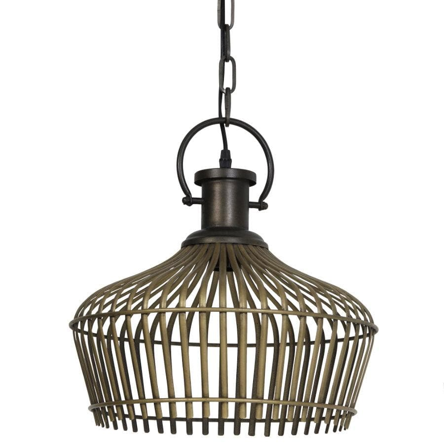 Vintage Gold Open Dome Pendant Light | Farthing