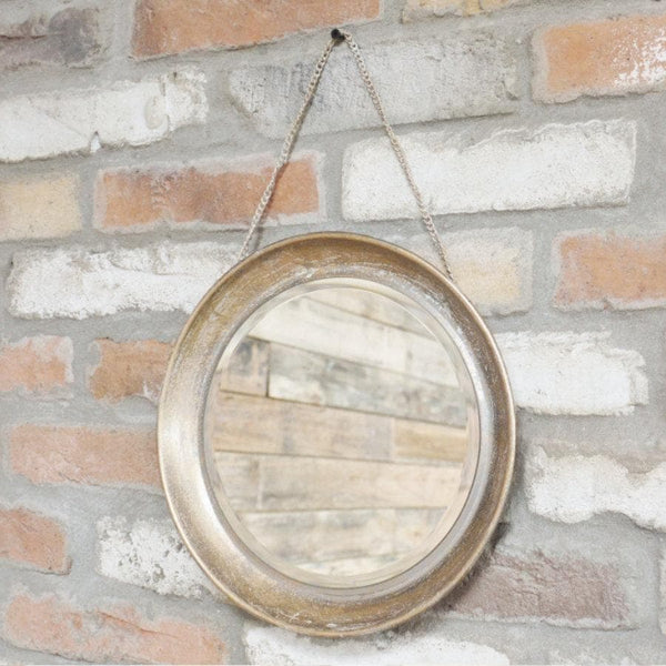 Vintage Round Hanging Mirror | The Farthing