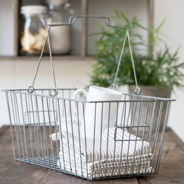 Vintage Wire Storage Basket at the Farthing 2