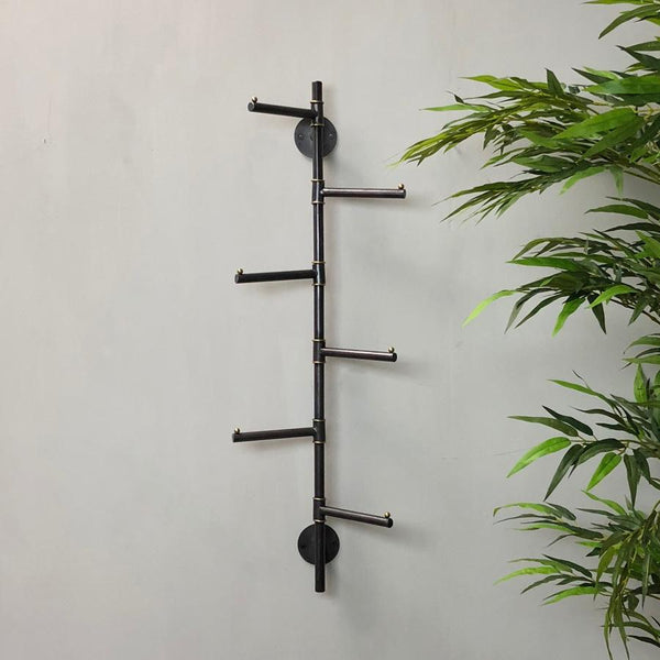 Wall Mounted Vertical Six Prong Coat Hooks | Farthing